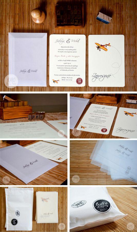 studio BURRO - zaproszenia ślubne, nowoczesne, nietypowe