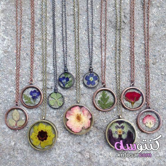 سلاسل اكسسوارات هاند ميد Pressed Flower Necklace Pinterest Jewelry Jewelry