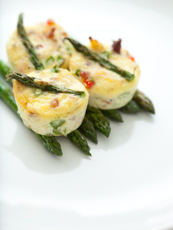 "Crab, Asparagus and Pepper Mini ""Un"" Frittatas / @DJ Foodie / DJFoodie.com"