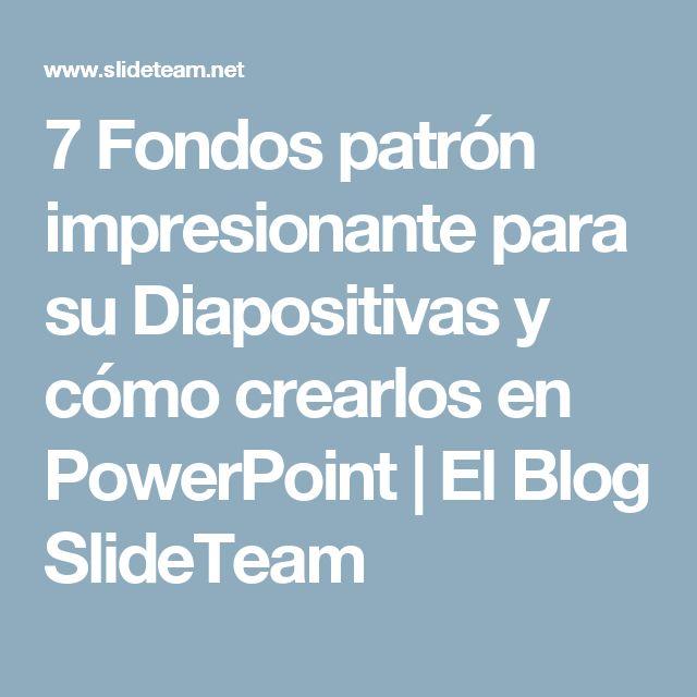 7 Fondos patrón impresionante para su Diapositivas y cómo crearlos en PowerPoint |  El Blog SlideTeam