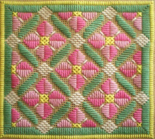 Rose Romance Long Stitch Needlepoint Pattern: Rose Romance Long Stitch Pattern