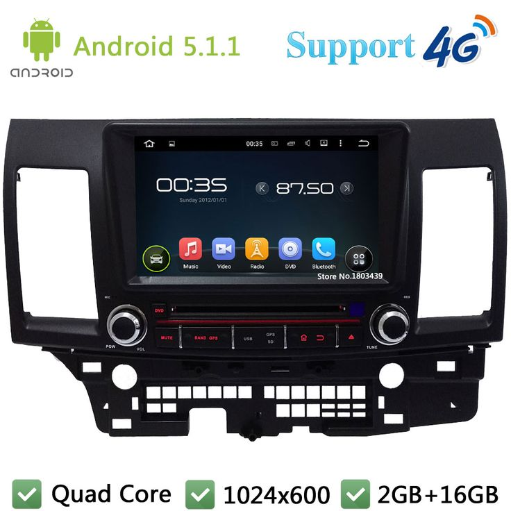 """8"""" 1024*600 3G/4G WIFI Android 5.1.1 Quad Core Car DVD Video Player Radio FM DAB+ GPS Map For Mitsubishi Lancer 2006-2011 2012"""