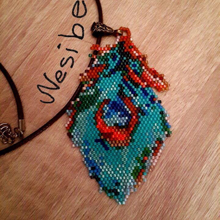 """85 Beğenme, 2 Yorum - Instagram'da Nesibe Erdoğan (@miyuki_takisandigi): """"İyi akşamlar  Bu da benim tavuskuşu yorumum kendi desenim ☺ #desen #desing #designer #jewellery…"""""""