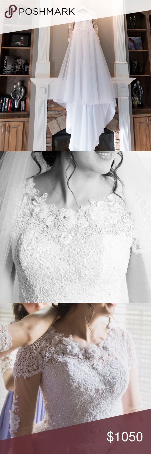 Sell my wedding dress made in Europe! Sell wedding dress made in Europe!  Size: s-m,  Color: white, only dressed once!  The top of the lace is embroidered with beads-handmade. made in Europe Dresses Wedding