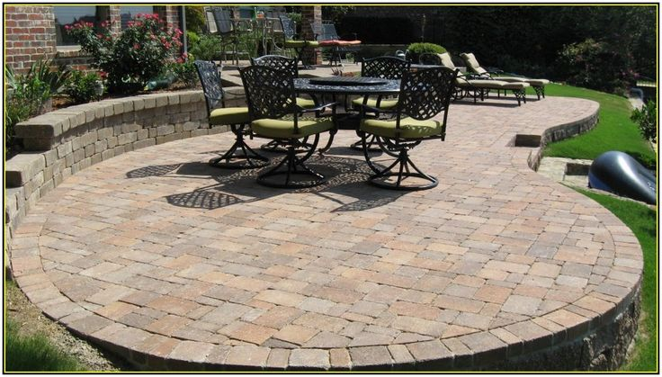 Building a paver patio on a slope home design ideas for Home depot patio installation