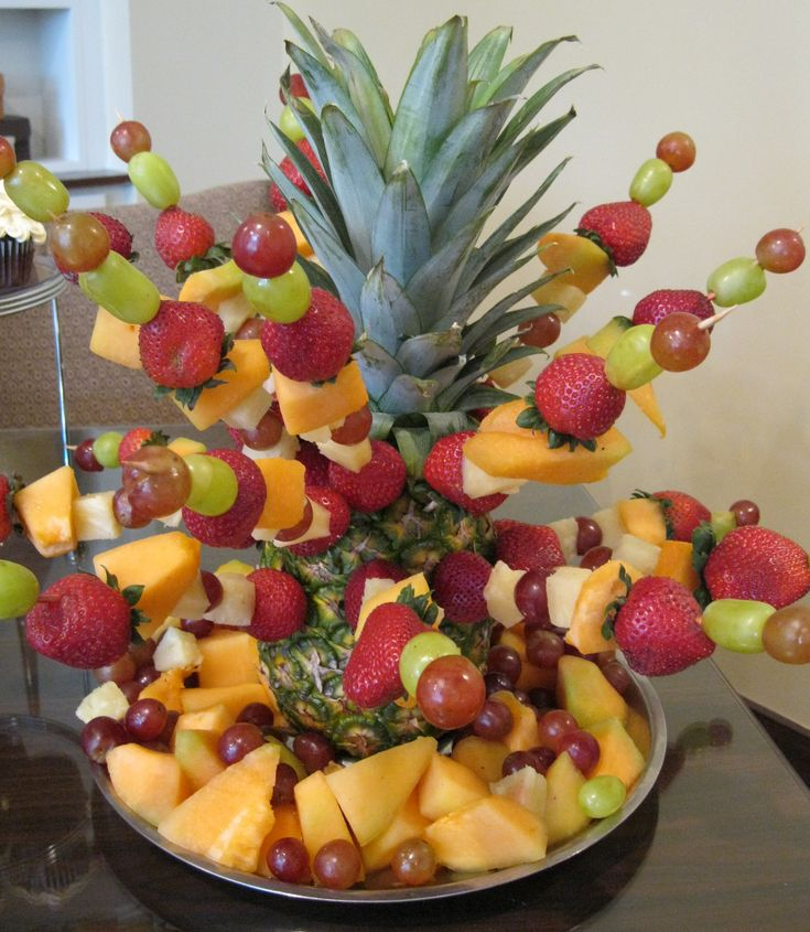 Centerpieces using fruit and vegetables anydaysoiree