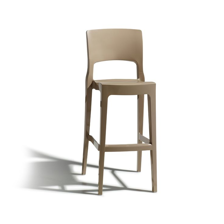 Stackable Isy Italian patio garden barstool anthracite, linen and dove at My Italian Living Ltd