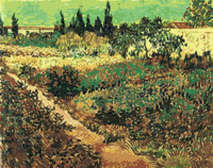 Сад с цветами (Ван Гог), предпросмотр