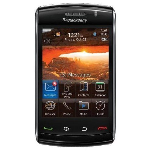 Blackberry Storm2 9550 Unlocked Phone with Touch Screen, Wi-Fi, 3.2MP Camera and GPS - Unlocked Phone - No Warranty - Black