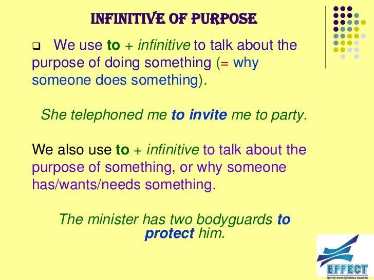 (Unit #5) Infinitive of Purpose