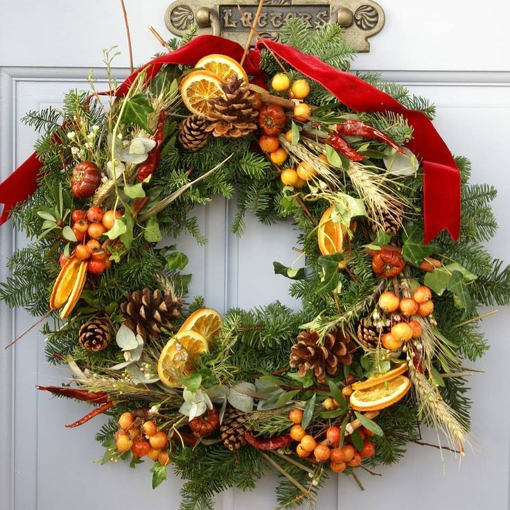 "rustic english country christmas | Rustic Country"" Fresh Scented Christmas Wreath 