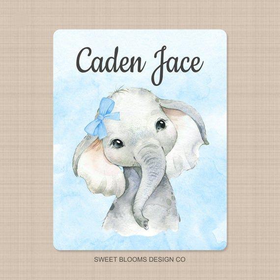 Custom Elephant Baby Sign