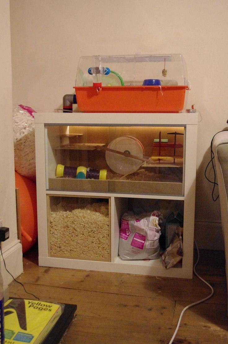 Ikea hack hamster cage - Imgur