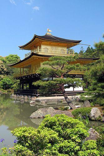 golden pavillion, kyoto, japan