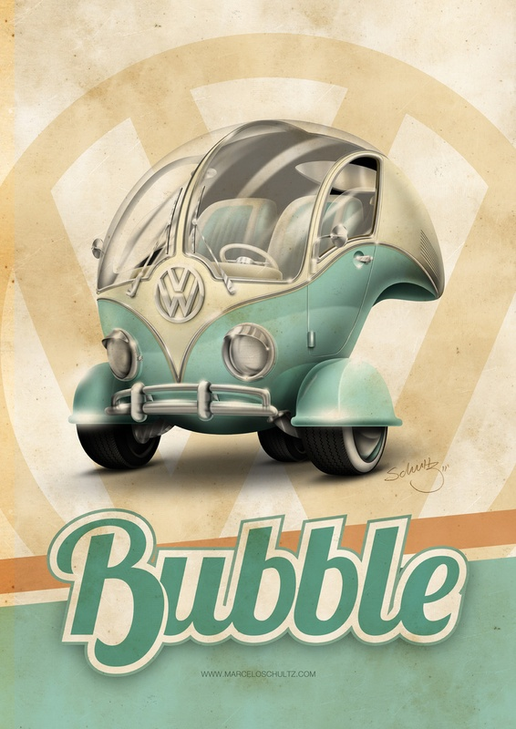 """Volkswagen """"Bubble"""" by Marcelo Schultz.. omg i would sell my soul for this , well maybe not my soul but everything else"""