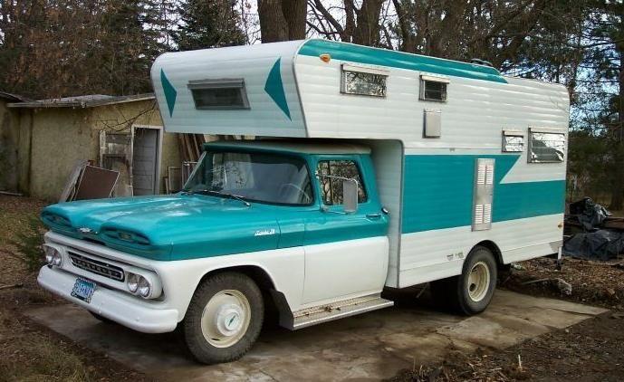 """1960""""S CAMPER Truck Camper Porn"""