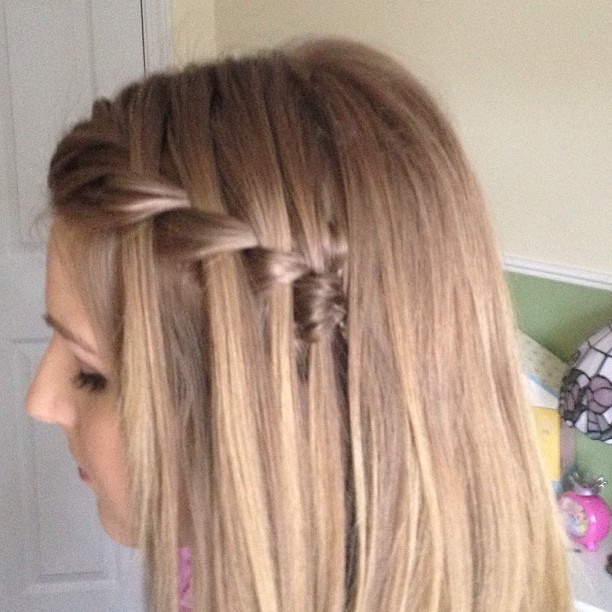 Fishtail Waterfall Braid.. Very Cute :)