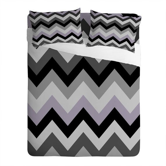 Black Chevron Pillow Cases & Bed Sheets / by LushTartArtProject, $100.00