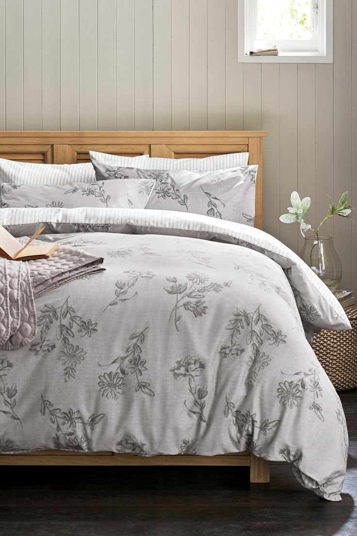 Buy 2 Pack Grey Floral Bed Set From The Next Uk Online