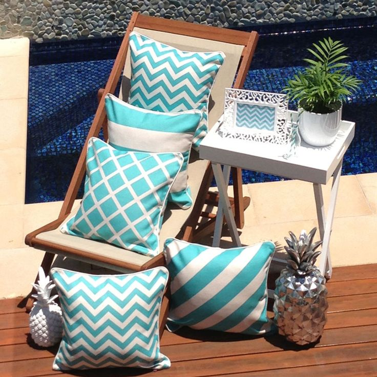Escape to Paradise Lattice Indoor/Outdoor Cushion, 45 x 45cm | Zanui.com.au