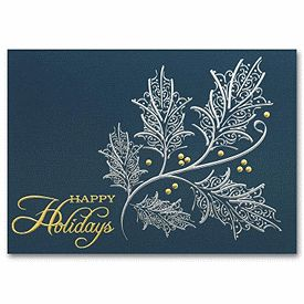 30 best envelopes greeting cards images on pinterest greeting silver and gold holiday card hh1600 business holiday cards deluxe reheart Gallery