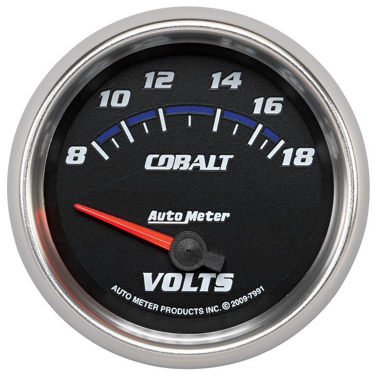 2 5 8 Voltmeter 8 18v 7921 Cobalt Gauges Autometer Gauges Cobalt