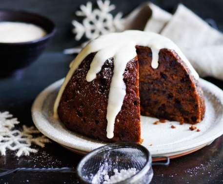 Recipe Quinoa Christmas pudding with custard by Louise Fulton Keats - Recipe of category Baking - sweet