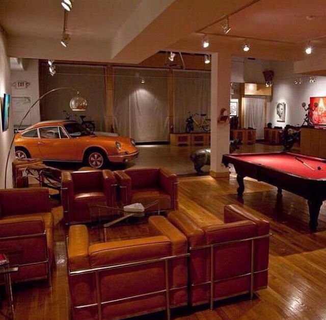 1000 ideas about garage game rooms on pinterest 3 car for Garage interieur