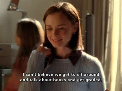 I wanted to be a Gilmore Girl. East coast. Fast talking. Book reading. Food eating. Yes, please.