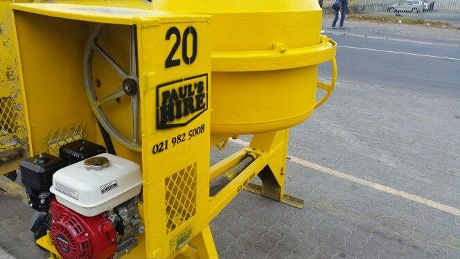 Concrete mixer R215.00 24h hire