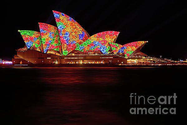 #OPERA_HOUSE #FLORAL #VIVID_SYDNEY by #Kaye #Menner #Photography Quality Prints Cards Products at: http://kaye-menner.pixels.com/featured/opera-house-floral-vivid-sydney-2016-by-kaye-menner-kaye-menner.html