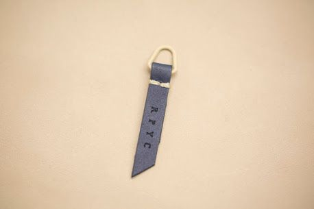 Leather zip puller made in Italy by Panama Trimmings #denim #details #vintage #labeling