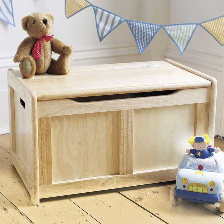 Pintoy Natural Wooden Toy Box | JoJo Maman Bebe