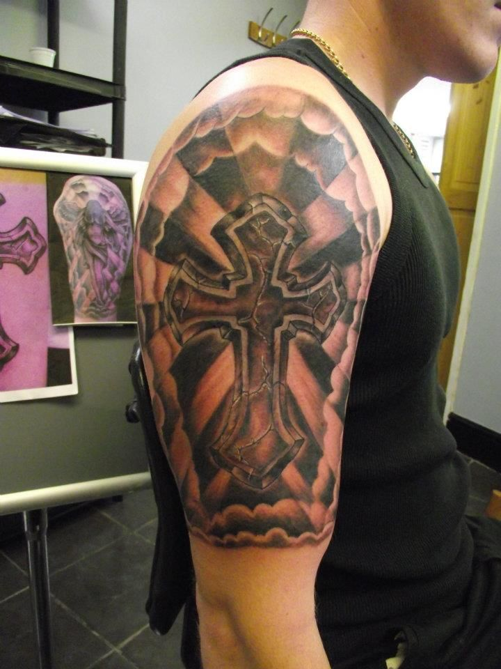 17 best ideas about religious tattoo sleeves on pinterest tattoo sleves cloud tattoo sleeve. Black Bedroom Furniture Sets. Home Design Ideas