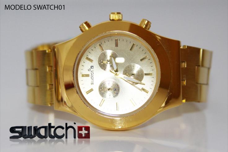 Reloj Swatch dama dorado
