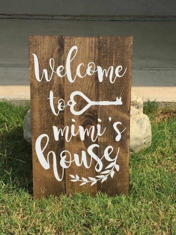 Welcome to Mimi/'s house sign