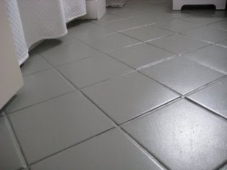 17 best images about painting tile floors on pinterest for Paint for linoleum floors in bathroom