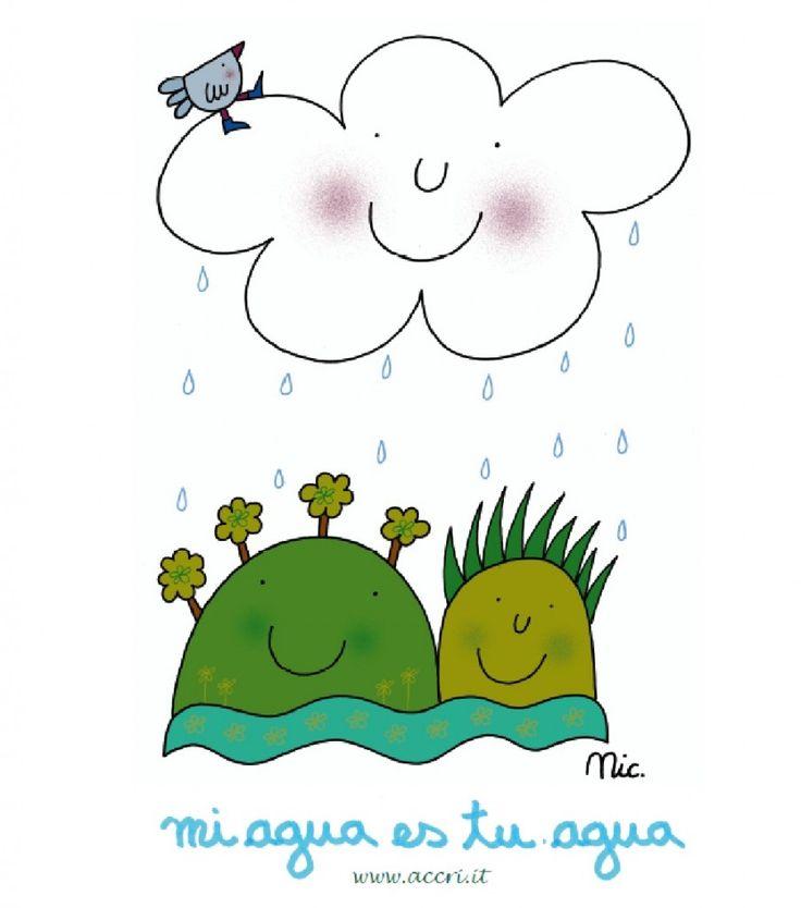 """#Tshirt """"Mi agua es tu agua!"""" Se sei troppo lontano ma vuoi essere #solidale con la nostra #campagna, scegli la #maglietta disegnata per noi da Nicoletta Costa che più ti piace e te la spediamo!"""