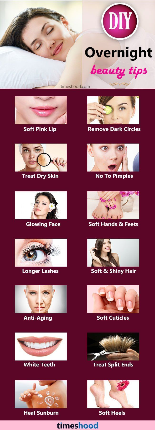 Overnight beauty tips: Beauty tips for skin, hair, Anti Aging Tips, beauty tips for women, home remedies for skin care, Tips to reduce dark circle and dark stop overnight. #skincaretips