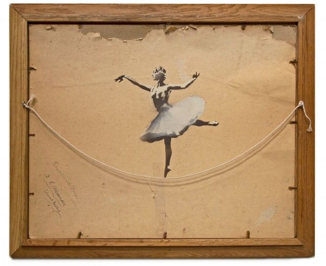 Ballerina by Banksy street art dance