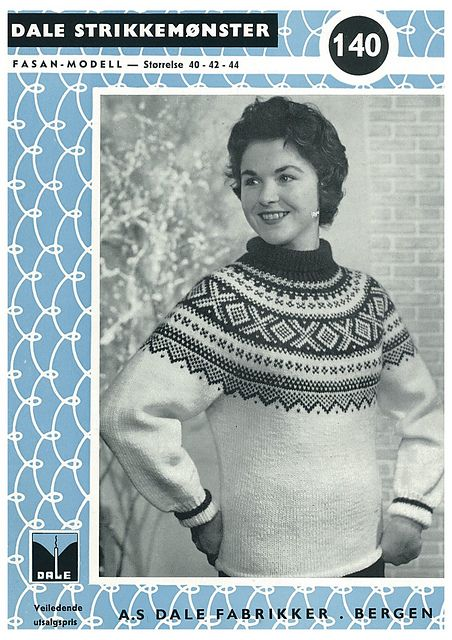 Ravelry: Damegenser med rundt bærestykke pattern by Dale of Norway / Dale Design - free knitting pattern