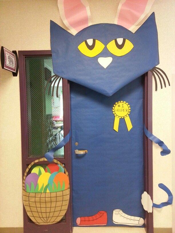 Easter Classroom Door With Pete The Cat April Pinterest