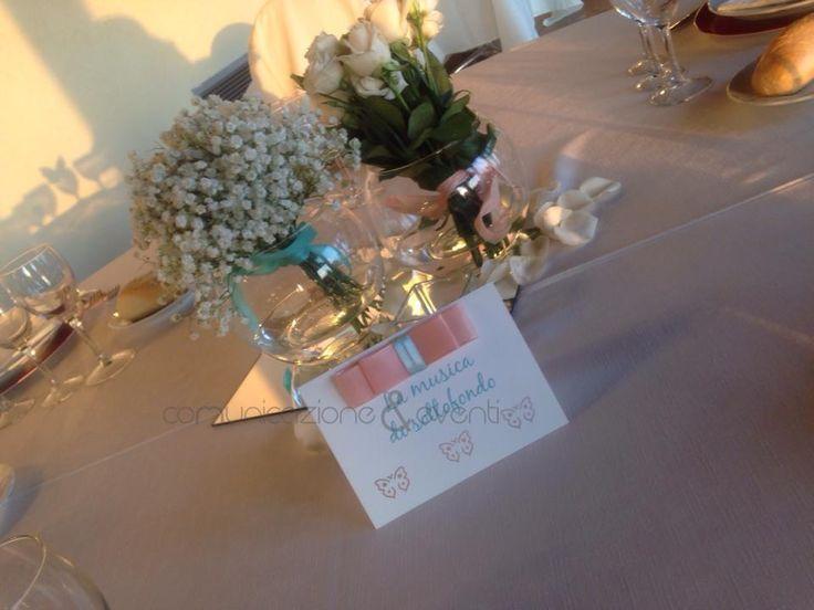centrotavola bowle e bouquet.. un delizioso regalo a fine serata per le signore