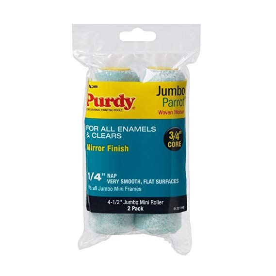 Purdy 140624040 Jumbo Mini Parrot Roller Replacements 2 Pack 4 1 2 Inch X 1 4 Inch Nap Paint Roller Roller Purdy