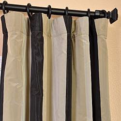 @Overstock - These drapes feature a crisp, smooth finish with wide vertical stripes. This window panel is constructed of heavy faux silk taffeta with high-quality flannel interlining and cotton lining. This curtain has a unique sheen and fine weave. http://www.overstock.com/Home-Garden/Signature-Stripe-Sake-Faux-Silk-Taffeta-Curtain-Panel/6788235/product.html?CID=214117 $84.99