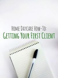 The most difficult part of opening a home daycare is getting your name out there and landing your first client. It may take up to a few months, but once you find your first family, more will quick...                                                                                                                                                                                 More