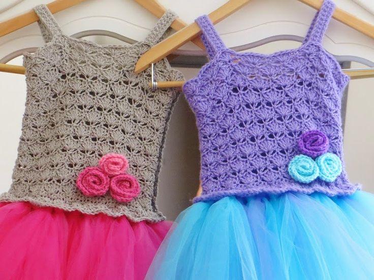 Crochet Baby Tutu Dress Pattern : 1000+ images about Crochet Baby DressesnOutfits on ...