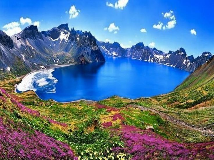 Heaven Lake on top of Mt. Bekdu in North Korea. One of the most popular bucket list destinations for Koreans