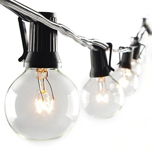 Patio Lights G40 Globe Party String Light Christmas Landscape Lights Decorative Indoor Outdoor Lighting for Backyard Bedroom Tree Holiday RV Dancing Warm White 25 Clear Vintage Style Ball Bulbs 25ft http://ift.tt/2lgz7aZ