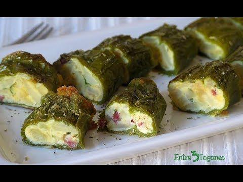 Pimientos Verdes Rellenos de Tortilla de Patatas con Jamón Serrano